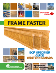 Image of Canada West Specifier Guide English Cover