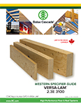 Image of Canada English West Versa-Lam 2.3E 3100 Specifier Guide Cover
