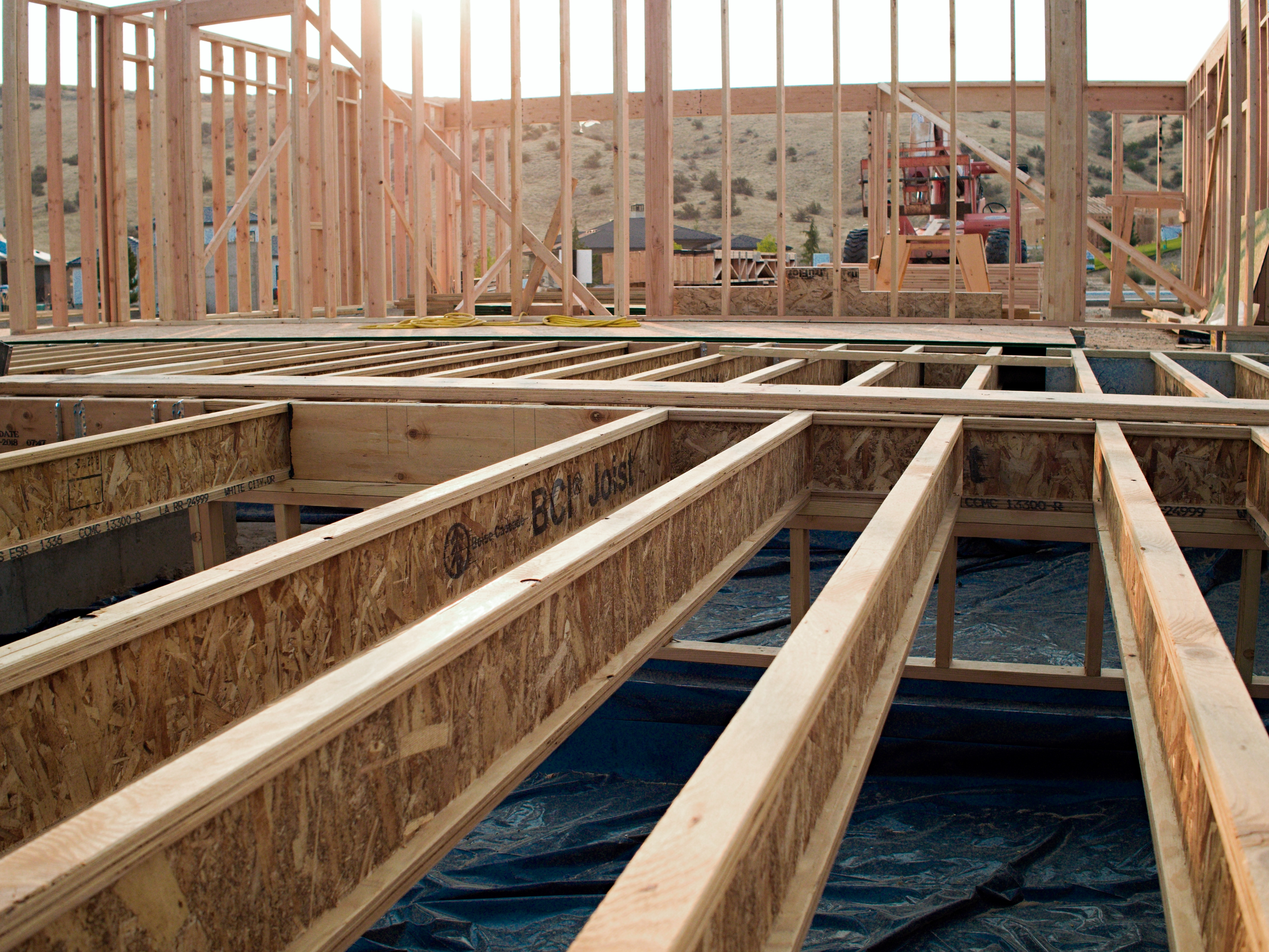 floor framing with Boise Cascade BCI joists